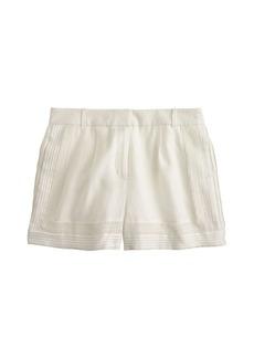Linen lace-trim short