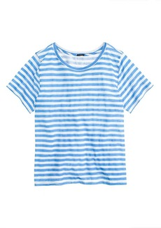 Linen swingy stripe tee