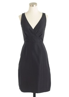Liza dress in slub silk