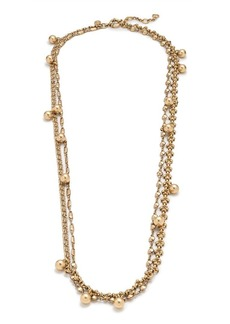 Long double-chain necklace