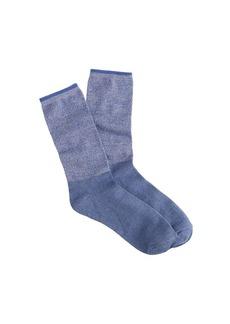 Long marled two-tone trouser socks
