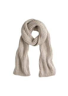 Long ribbed scarf