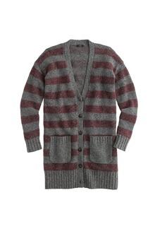 Long-stripe cardigan sweater