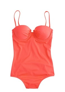 Long torso neon ruched underwire tank