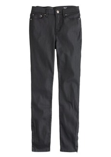 Lookout high-rise jean in coated mamba black wash