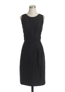 Louisa shift dress in slub silk
