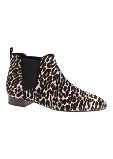 Low calf hair pull-on boots