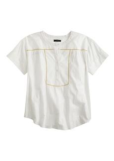 Lurex® striped popover shirt