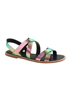 Mackenzie crackled foil sandals
