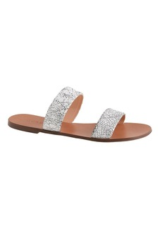 Malta crackled leather sandals