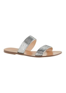 Malta crackled metallic sandals
