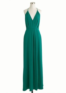 Manuela long dress in crepe