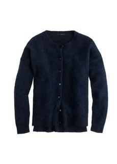 Marled mohair cardigan sweater