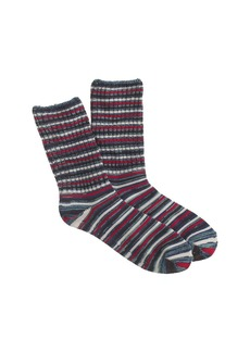 Marled multistripe trouser socks