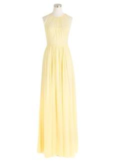 Megan long dress in silk chiffon