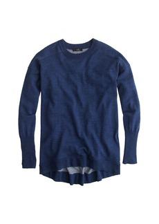 Merino-cotton tunic sweater