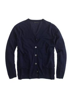 Merino linen V-neck cardigan sweater