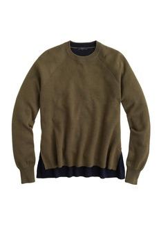 Merino wool side-slit sweater