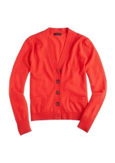 Merino wool V-neck cardigan sweater