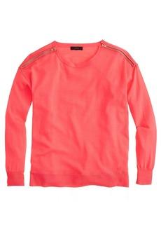 Merino zip-shoulder sweater