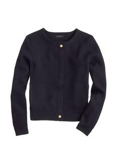 Merino zippered sweater-jacket