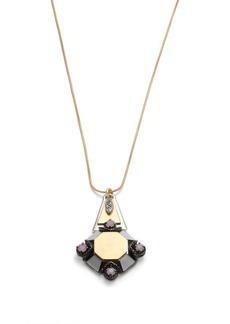 Metal medallion pendant necklace