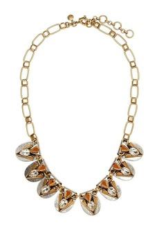 Metal origami necklace