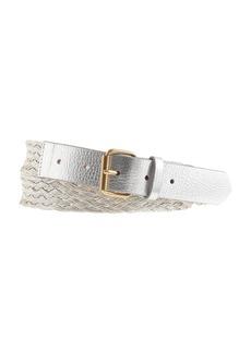 Metallic braided belt