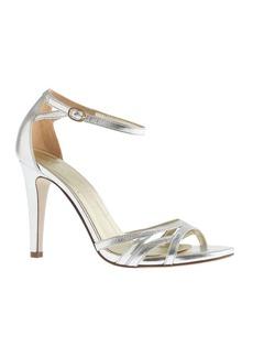 Metallic leather high-heel sandals
