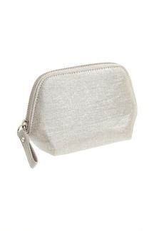 Metallic makeup pouch