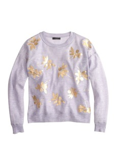 Metallic petal sweater
