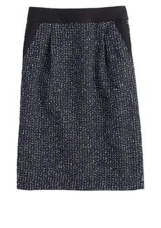 Midnight tweed pencil skirt