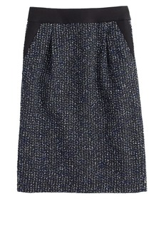 Midnight tweed pencil skirt