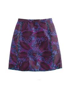 Mini skirt in midnight floral jacquard