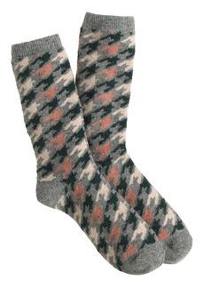 Mixed houndstooth socks