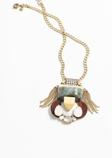 Mixed stone pendant necklace