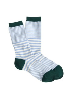 Mixed stripe trouser socks