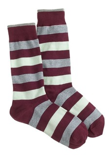 Mixed stripe trouser socks