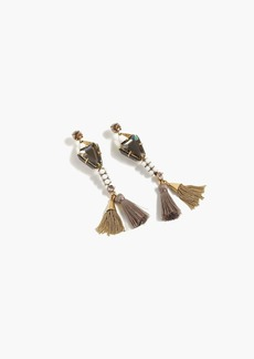 Mixed tassel earrings