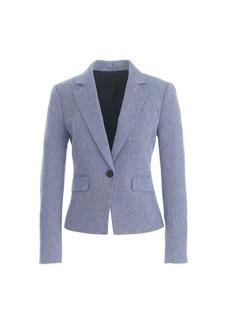 Mélange herringbone jacket