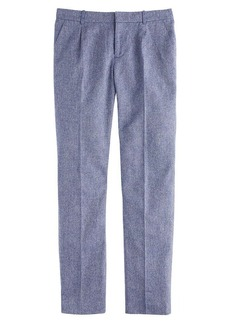 Mélange herringbone pleated trouser
