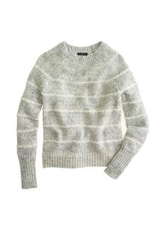 Mohair fuzzy-stripe sweater