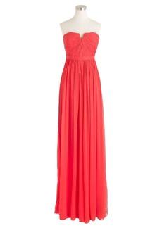 Nadia long dress in silk chiffon