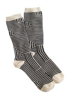 Navy-striped trouser socks