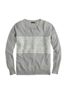 Needle-punch lace sweater