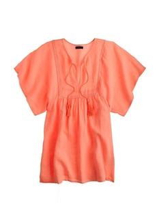 Neon linen tassel beach tunic