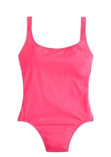 Neon scoopback one-piece swimsuit