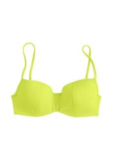 Neon seamed underwire bikini top