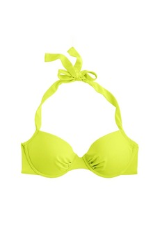 Neon underwire halter top