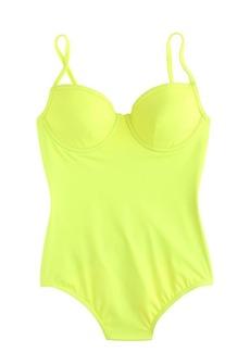 Neon underwire one-piece swimsuit